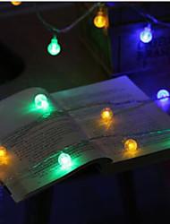 5W Cordões de Luzes 100 lm AC100-240 V 10 m 100 leds Branco Quente RGB