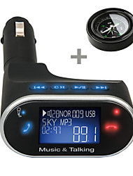 630C Universal LCD Bluetooth Car Kit MP3 Player FM Transmitter SD USB Charger Handsfree with Compass