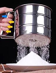 1pc Manual flour sieve flour cup Stainless steel sieve flour baking utensils