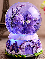 Light snow crystal ball music box music box to send his girlfriend a birthday gift for children bestie