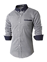 Men's Wedding Party Beach Holiday Going out Casual/Daily Work Club Simple Punk & Gothic Chinoiserie All Seasons Shirt,Print Shirt Collar