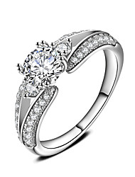 Women's Silver Plated Ring Fashion Style Classic Jewelry Wedding Graduation