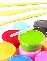 12 cores super-luz argila set diy magia ar secagem dúctil inteligente plasticina elástica qualidade alimentar polímero macio