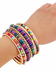 Femme Charmes pour Bracelets Bracelets Rigides Bracelets de rive Vintage Hip-Hop Gothique Alliage de métal Résine Forme de Cercle Bijoux