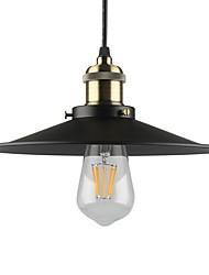 Vintage Black Pendant Lights 1-light Metal Living Room Dining Room Hallway Diameter 10.2in Pendant Lighting