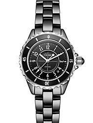Women's Fashion Watch Quartz Ceramic Band Black