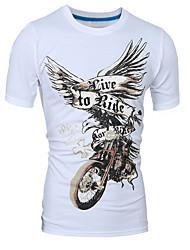 Herren Druck Street Schick Sport Lässig/Alltäglich Klub T-shirt,Rundhalsausschnitt Frühling Sommer Kurzarm Polyester