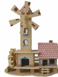 Puzzles Kit de Bricolage Puzzles 3D Blocs de Construction Jouets DIY  Maison Architecture Bois