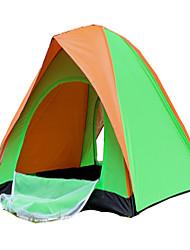 2 Personen Zelt Doppel Falt-Zelt Einzimmer Camping Zelt 1000-1500 mm Terylen Silber Band Schnell trocken Belüftung Klappbar-Camping &