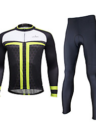 ILPALADINO Cycling Jersey with Bib Tights Men's Long Sleeves Bike Tights Bib Tights Clothing Suits Waterproof Quick Dry Windproof