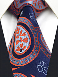 CXL29 New Mens Necktie Unique Extra Long 63 Blue Red Paisley 100% Silk Business Dress