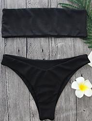 2017 Newest Black Color  Bikini Women's Bikini Strapless Bikini Sets Sexy Style Swimming Suits