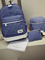 Women Bags All Seasons Canvas Backpack with for Casual Blue Green Red