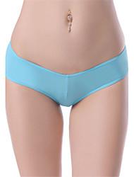Women's Sexy Underwear Ultra-thin Briefs Low Waist Nightwear Panties Plus Size M-3XL