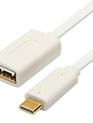 USB 3.1 Tipo C Cabo adaptador, USB 3.1 Tipo C to USB 2.0 Cabo adaptador Macho-Fêmea 0.25m (0.8Ft)