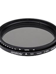Andoer 49 мм и нейтральная плотность фейдера с регулируемой частотой от nd2 до nd400 для камеры canon nikon dslr