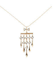 Women's Pendant Necklaces Rhinestone Geometric AlloyUnique Design Animal Design Pendant Tag Geometric Tassels Movie Jewelry Fashion