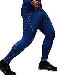 Муж. Брюки для бега Фитнес, бег и йога Быстровысыхающий Впитывает пот и влагу Нижняя часть для Бег Аэробика и фитнес Зимние виды спорта