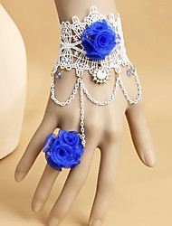 Belly Dance Jewelry Women's Performance Polyester Appliques 1 Piece Bracelets