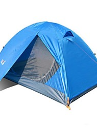 2 persons Tent Double Fold Tent One Room Camping Tent 2000-3000 mm Glass fiber Terylene Waterproof Rain-Proof Dust Proof Foldable-Camping