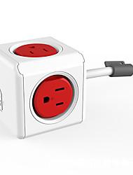 Mini prise murale pratique double usb ports prises murales power cube socket avec 2 usb ports et 4 points us plug