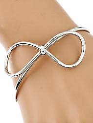 Women's Chain Bracelet Bangles Cuff Bracelet Gothic Fashion Rock Metal Alloy Gold Plated Feather Shiny Metallic Geometric Irregular