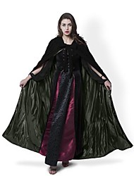 Medieval Black Cloak Lined Olive Green Satin Halloween Robe Renaissance Wedding Velvet Cape Cosplay Cape Wicca SCA LOTR LARP Goth