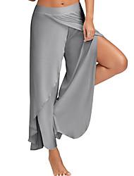 Mujer Sencillo Activo Tiro Medio Microelástico Perneras anchas Pantalones,Perneras anchas Un Color Separado