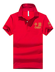 Men Business Other Daily Casual Leisure Sports Casual/Daily Athleisure Simple Street chic Chinoiserie Spring Summer Polo,Solid Patterned