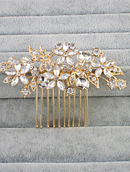 Cristal Strass Capacete-Casamento Pentes de Cabelo 1 Peça