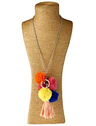 Femme Collier court /Ras-du-cou Pendentif de collier Colliers Déclaration Forme Géométrique Vannerie Alliage de métal PaillettesOriginal