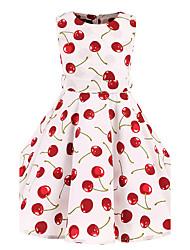 Robe Fille de Fleur Coton Toutes les Saisons Sans Manches