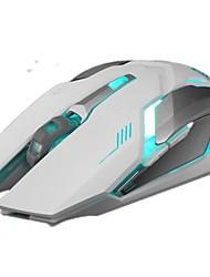Batterie lithium rétroéclairée 1600dpi mute 2.4ghz souris USB sans fil