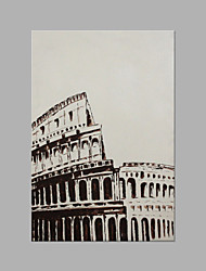 IARTS®Modern Abstract Oil Painting Rome Gladiator Arena Black White Picture Style Stretched Frame Handmade Painting For Home Decoration Read To Hang