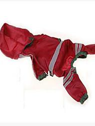 Dog Rain Coat Dog Clothes Casual/Daily Waterproof Solid Jade Ruby Orange