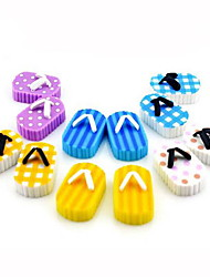 Cartoon Plastic Nylon School&Office Supplies Slippers Shape Eraser 1Pair