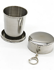 All Stainless Steel Telescopic Fold Folded Glass Glass Cup 140ml