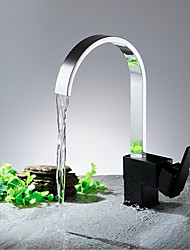 Copper Chrome Finished Single Lever single Handle Kitchen Sink Faucet with Hot and Cold Flexible Hoses