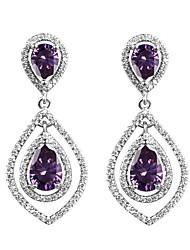 Euramerican Fashion Casual Unique Luxury Female Statement Jewelry Ladies Elegant Drop Earrings For Women Bohemian Dangle Earrings Zircon Copper