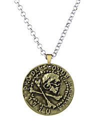 Lureme Vintage Jewelry Uncharted Drake Antique Gold Coin Pendant Necklace