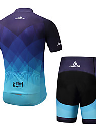 Miloto Cycling Jersey with Shorts Men's Male Short Sleeves Bike Padded Shorts/Chamois Cycling Spandex Spring/Fall Summer Cycling/Bike