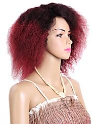 Фигурные плетенки Кудрявый Вязание крючком с человеческими волосами KanekalonЧерный Черный / Клубника Blonde Черный / Medium Auburn