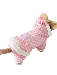 Hund Kapuzenshirts Hundekleidung Lässig/Alltäglich Polka Dots Beige Rosa