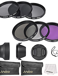 E kit de filtro de lentes 49mm uv cpl fld nd (nd2 nd4 nd8)
