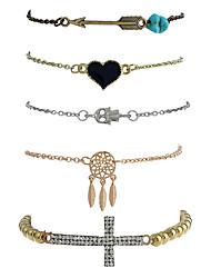 Femme Chaînes & Bracelets Charmes pour Bracelets Bracelets de rive Style Punk Pierre Gothique Alliage de métal Résine AlliageForme