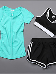 Women's Short Sleeve Running Compression Clothing Tracksuit Underwear Clothing SuitsCycling Basketball / Soccer / Football / Volleyball /