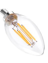 4W Luci LED a candela C35 4 COB 300-400 lm Bianco caldo Oscurabile Decorativo AC 110-130 V 1 pezzo