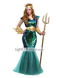 Costumes de Cosplay Costume de Soirée Reine Conte de Fée Déesse Cosplay Fête / Célébration Déguisement d'Halloween RétroOther Robes
