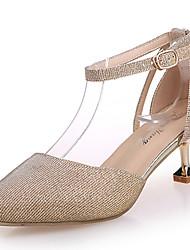 Women's Sandals Comfort Rubber Summer Outdoor Walking Comfort Buckle Low Heel Silver Gold Under 1in