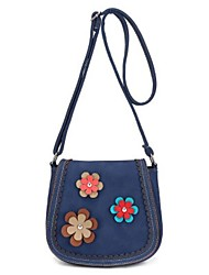 Women Shoulder Bag PU All Seasons Casual Outdoor Round Button Brown Red Blue